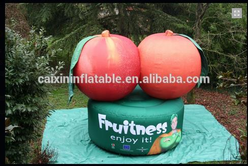 Giant Outdoor Decortion Advertising Customized Fruit / Red Inflatable Apple Model