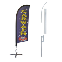 Free Standing Vertical Aluminium Feather Flag Pole