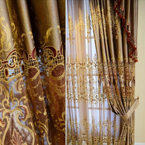 2015 hot sale hotel blackout curtain fabric valance