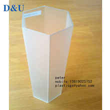 Special shaped hexagonal shape clear plastic packing tube