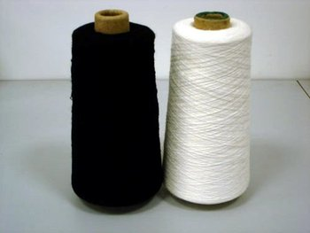 silk and cotton blend yarn