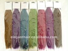 12 inch colorful grizzly rooster feather hair extensions