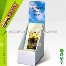 custom design counter cardboard display shelf for books