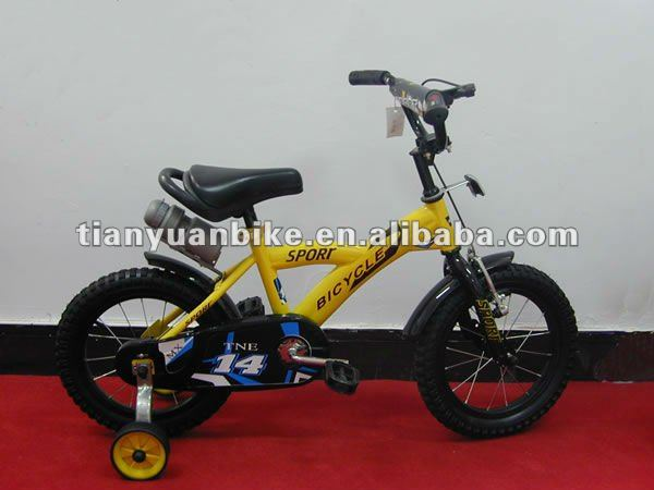strong steel cheap lightweight cartoon yellow kids child BMX bicycle bike