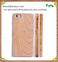 2016 Newest Design Full Wood Bamboo Phone button Case for iPhone, Hand-made Blank Hard cover for iPhone6 6s