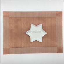 anti-slip heat resistant woven hot copper placemat