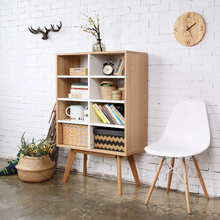 Scandinavian modern wooden bookcase