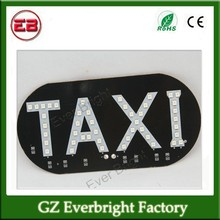 45SMD Taxi Decorative Light LED Board Light Cab Indicator license Plate Lighting Taxi Sign Lamp in Night Driving