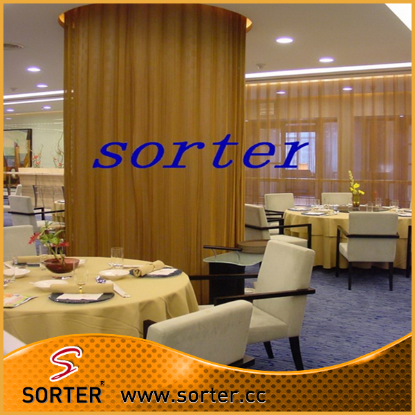 high-end Metal Coil Drapery/Wire Woven Fabrics/Architectural Drapery