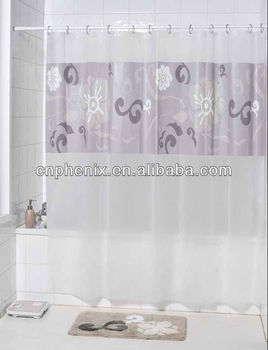 Printed Fabric Shower Curtain