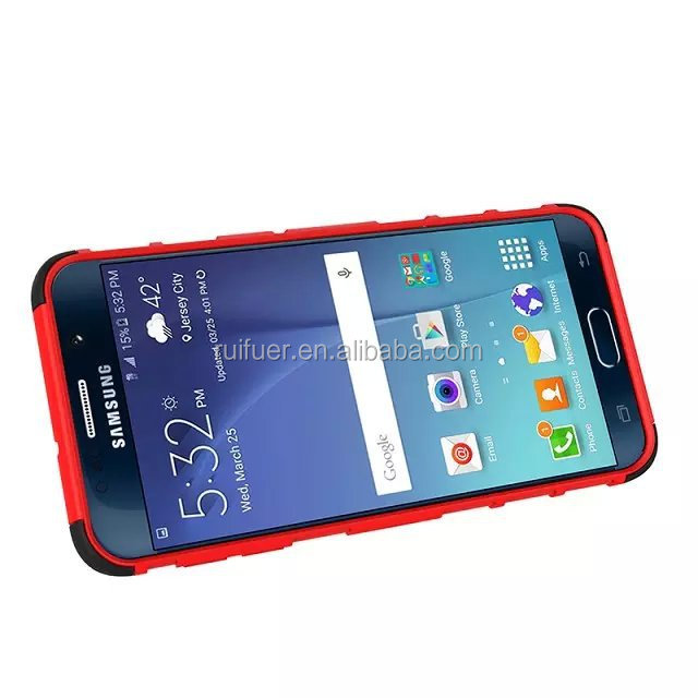 Dual Layer Tough Rugged Kickstand Hybrid Shockproof Heavy Duty Case for Samsung Galaxy S6 Edge+