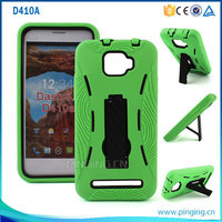 new model PC+silicon robot kickstand hybird combo case for Blu Dash 5.0 D410A with stand function