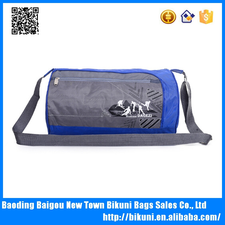 Cheap custom nylon bucket outdoor men gym sport bag duffel bag for travel