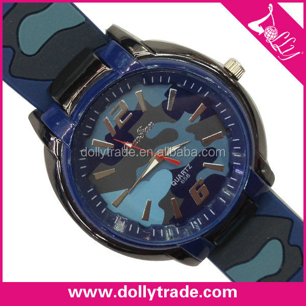 camouflage silicone game wrist watch