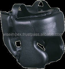 full Black padded design Boxing head guard in various colors and all quantities