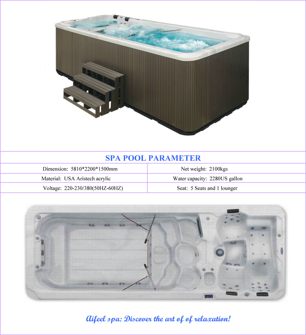european style acrylic whirlpool portable swimming pools