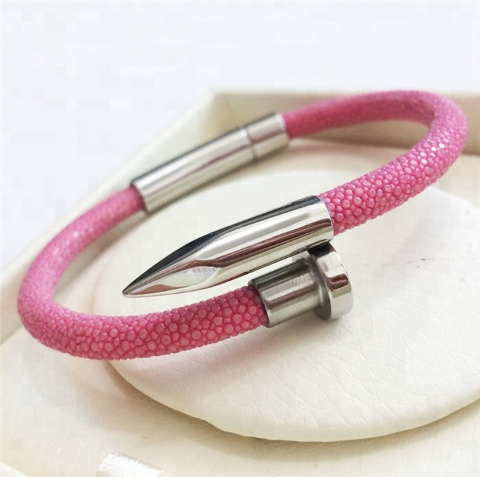 Best Sale Luxury Genuine Stingray Leather Bracelet