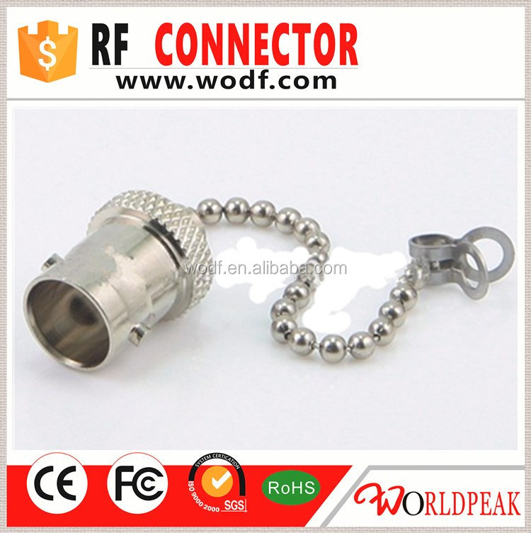 nickel plated Brass BNC Female Dust Cap with Chain