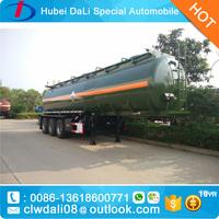 45000liters 3 axles Oil tank semi trailer light weight 3 axles shiny aluminum alloy fuel tanker trailer