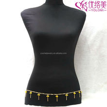 Gold Belly Chain Featured Beads Waist Chain Body Chain Jewelry YMWC-2904