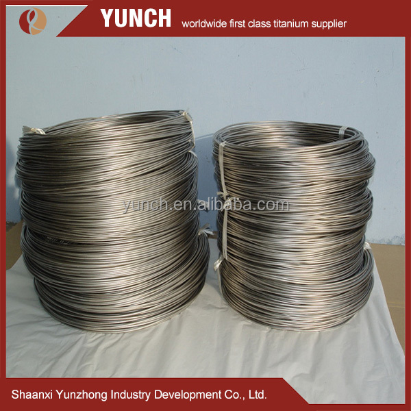 Alloyed ASTM B863 Polished Titanium Wire Gr5 for Defense and Commercial applications