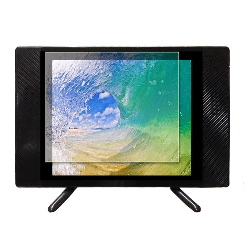 Factory price small size black lcd tv with stand
