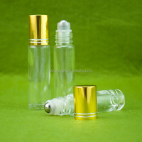 Cheap price wholesale glass roll on bottle with stainless steel roller