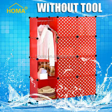 HOMA Huge capacity Washable plastic folding clothes cheap wardrobe