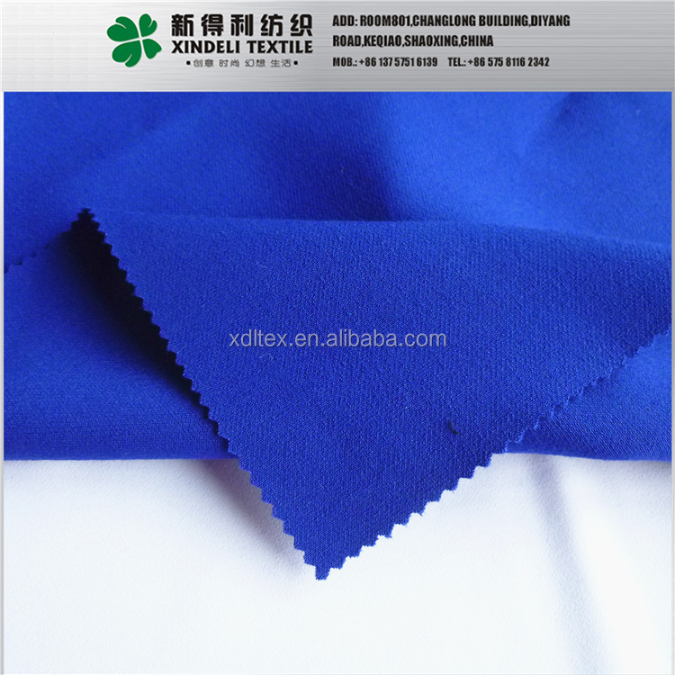 XLT3426 plain dyed 80% T, 15%R royalblue tr suiting dress shirt fabric wholesale