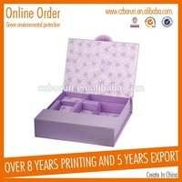 New design chocolate packaging box design templates box with low price