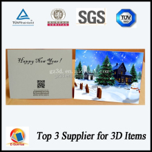 New Year celebration 3d lenticular greeting card for 3d gifts