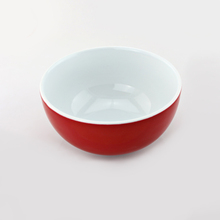 "5.5"" inches double glaze red cereal bowls round porcelain ceramic tone european easter household everyday use mint cartoon bowl"