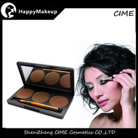 Newest, Makeup Natural Eyebrow Powder, 3 Colors Palette