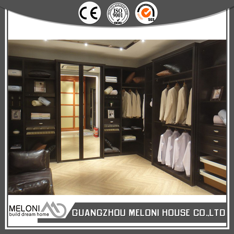 European quality glass doors walk in closet with 2 mirror sliding door