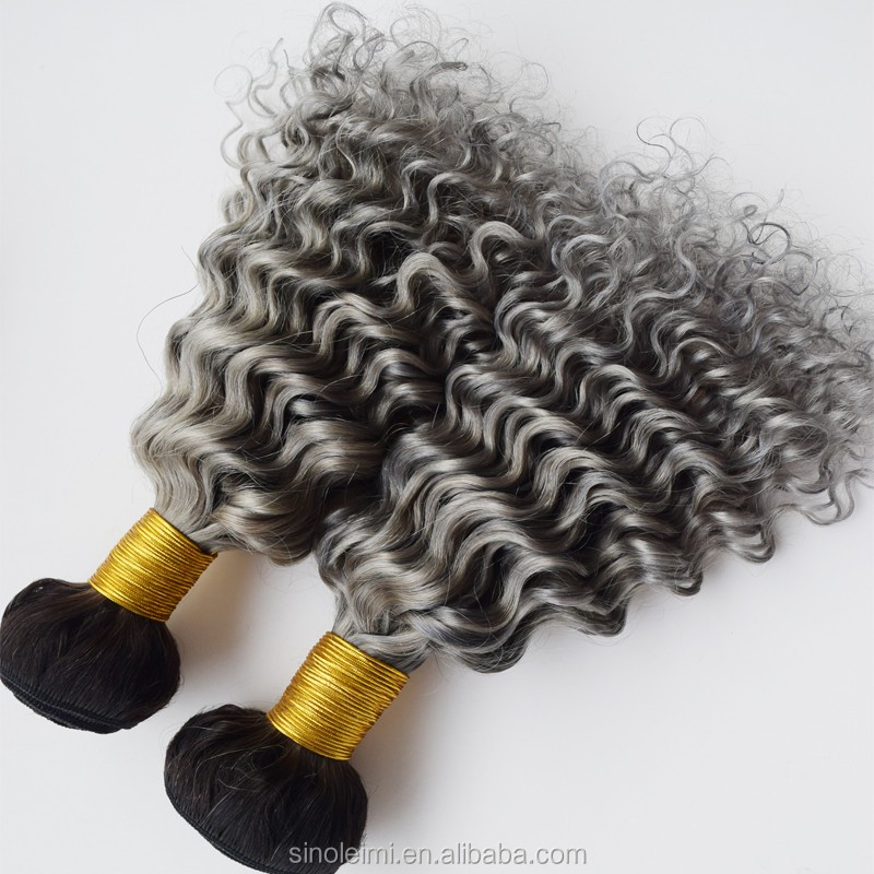 7A 100% Unprocessed Virgin indian Human Hair no tangle no shedding loose wave dark roots ombre grey color human hair wefts