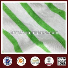 China gold supplier,new style soft green and white stripe fabric with high quality