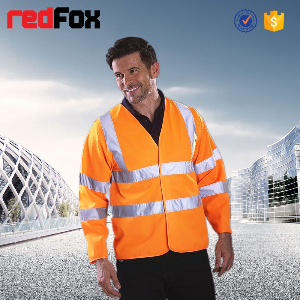 orange reflective / reflex safety vest meet EN471 class 3