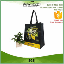 Recyclable PET non woven tote shopper bag Thermal Dye Sublimation printing