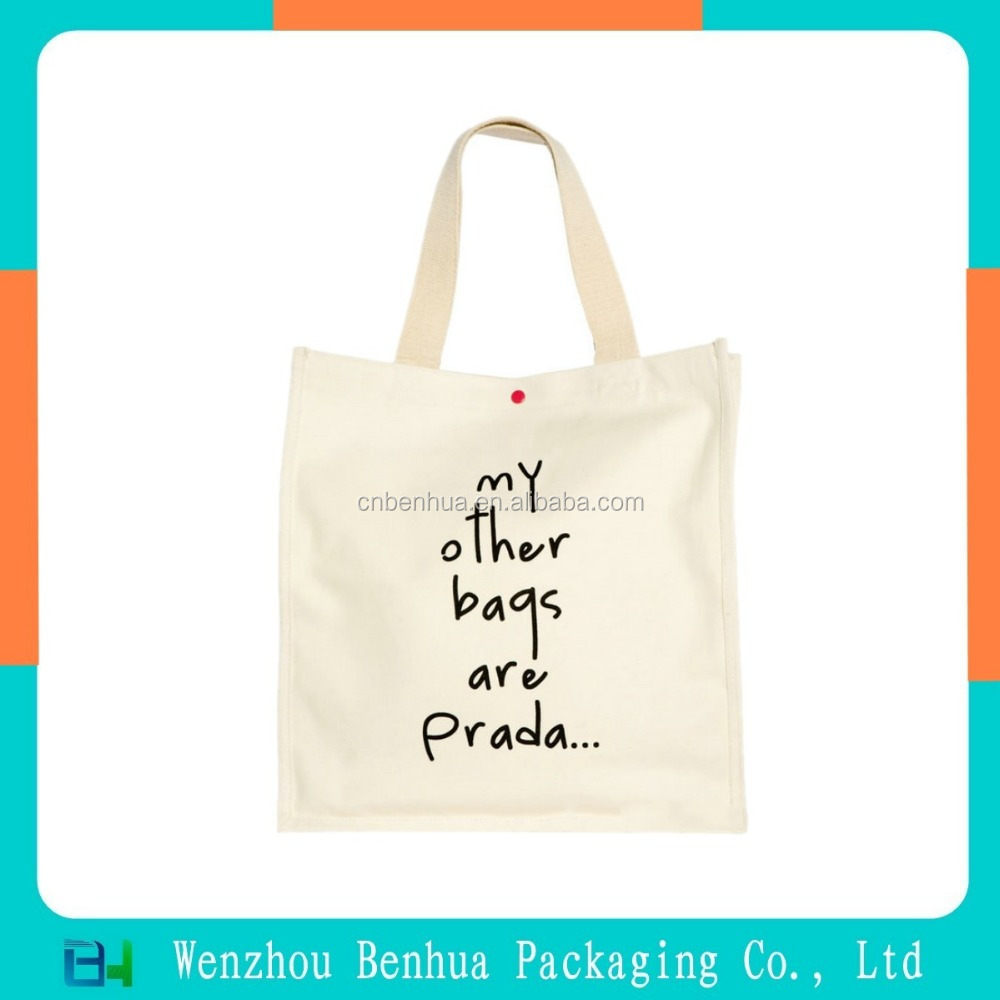 Organic Natural Custom Cotton Grocery Bag