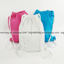 Custom cotton canvas drawstring backpack casual backpack bag