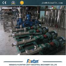 Stainless steel screw pump for food
