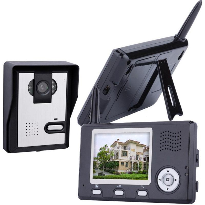 "2.4G digital frequency 3.5"" long range wireless video intercom"
