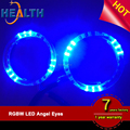 replace ccfl angel eyes factory price universal led halo ring 3528 smd car 80mm