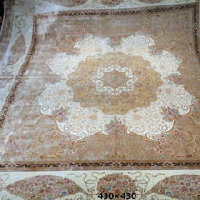 large size beige handmade persian oriental silk carpets for living room online rugs store