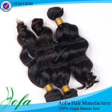Famous factory price 100% unprocessed virgin human hair wholesale