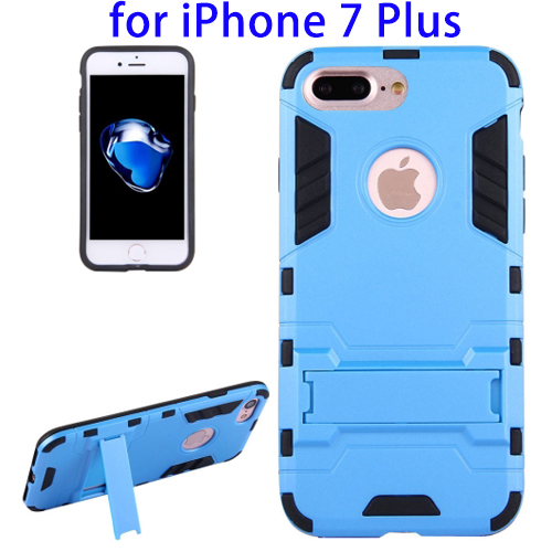 TPU + PC Mobile Phone Combination Combo Kickstand Case for iPhone 7 Plus