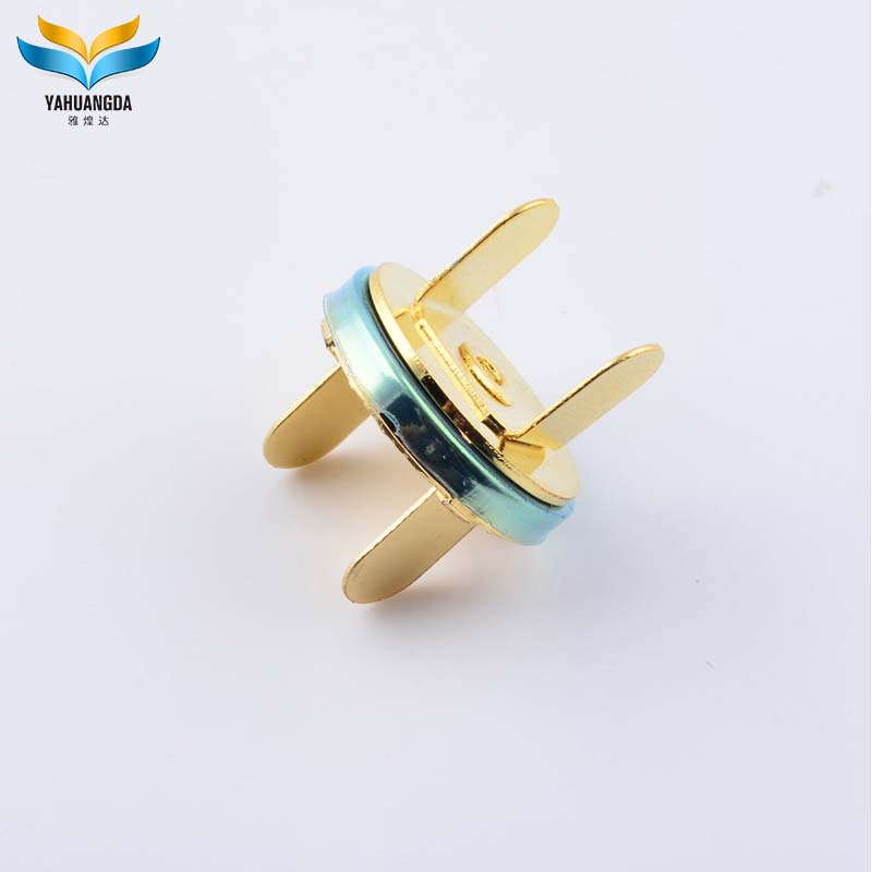 2017 fashion 18mm metal magnetic button clasps for leather