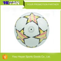 High quality cheap custom machine stiched pvc soccer ball