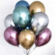Metallic Latex Balloons Thick Pearly Metal sliver Colors helium latex balloon for Wedding Party Decoration