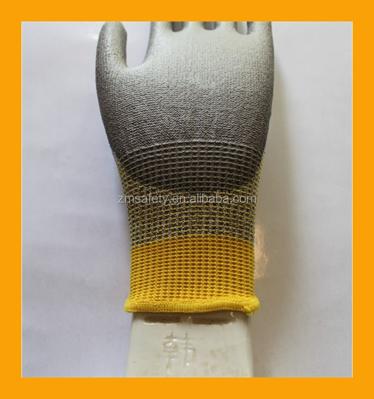 Cut Protection Level 5 Cut Resistant Hand Gloves with Two Colors Knitted Cuff